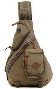 Image of Bonamana Canvas Leather Hiking Bag