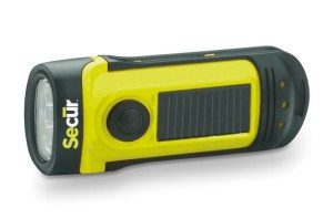 Secur Waterproof Hand crank or built in Solar powered 3 LED