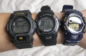 three-g-shock-watches-on-my-wrist