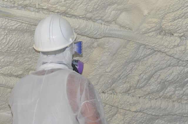 Spray foam insulation provides the best protection from the elements.