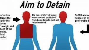 Aim to detain taser instructions