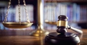 legal scale and gavel