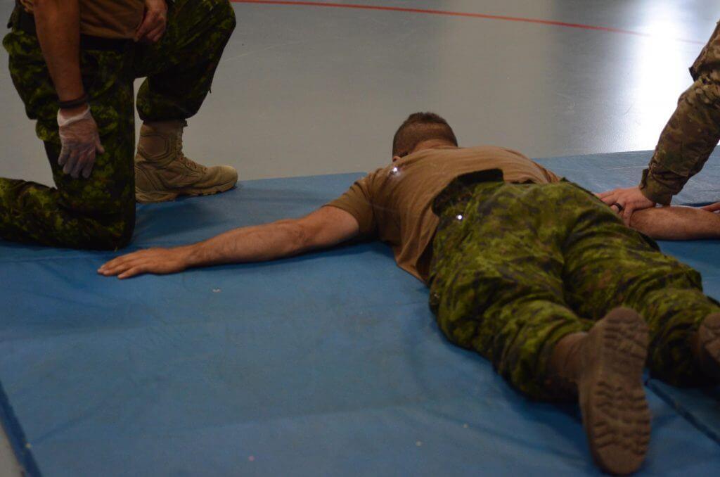 Military man shot with taser gun