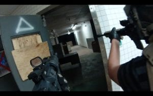 Indoor combat with aimed guns