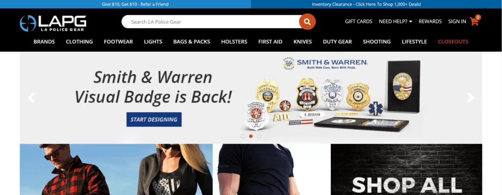 LA Police Gear Homepage
