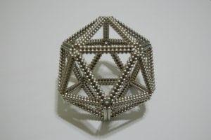 Neodymium magnet balls forming geometrical shape