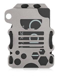 Calti Tactical Titanium EDC Minimalist Slim Wallet